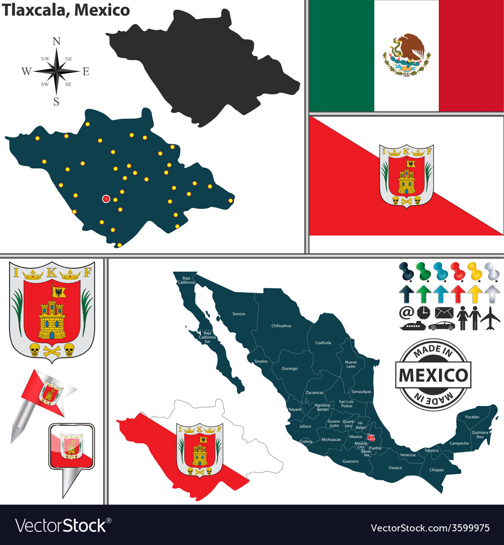 Map of tlaxcala vector   Price: 1 Credit (USD $1)