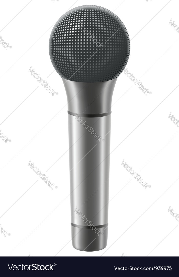 Microphone 02 vector | Price: 1 Credit (USD $1)