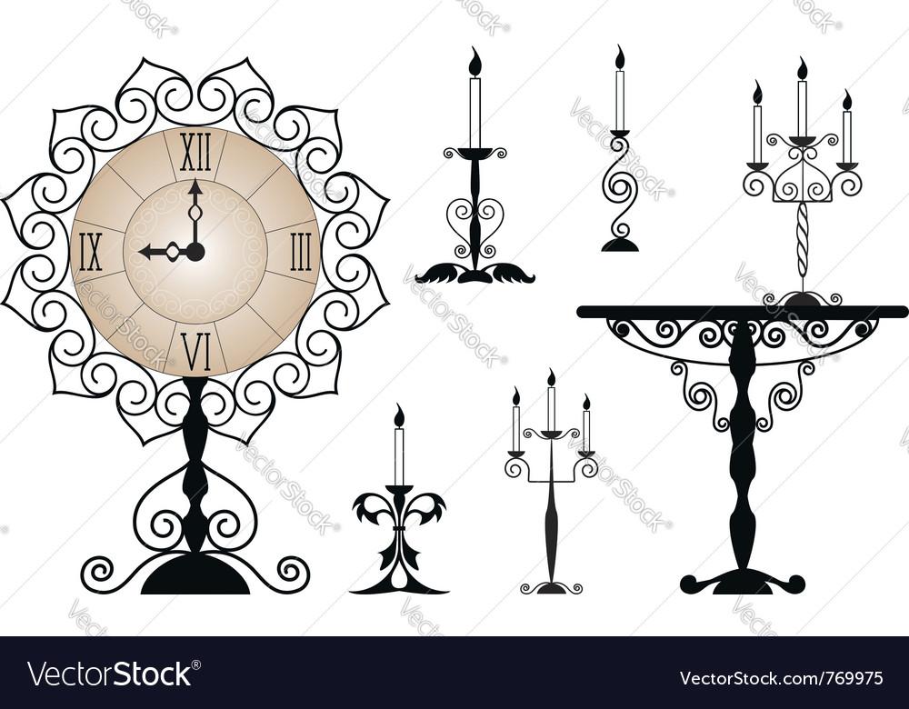Set of interior elements vector | Price: 1 Credit (USD $1)