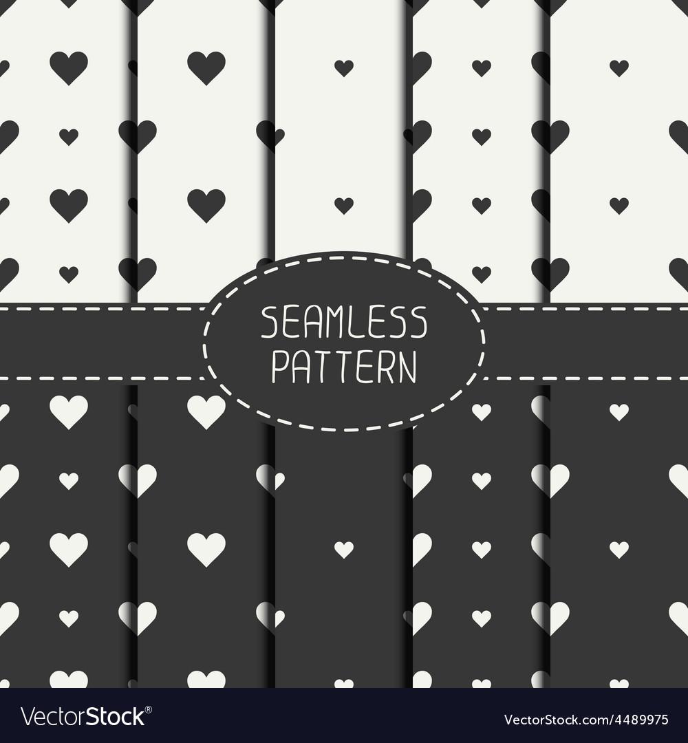 Set of monochrome romantic geometric seamless vector | Price: 1 Credit (USD $1)