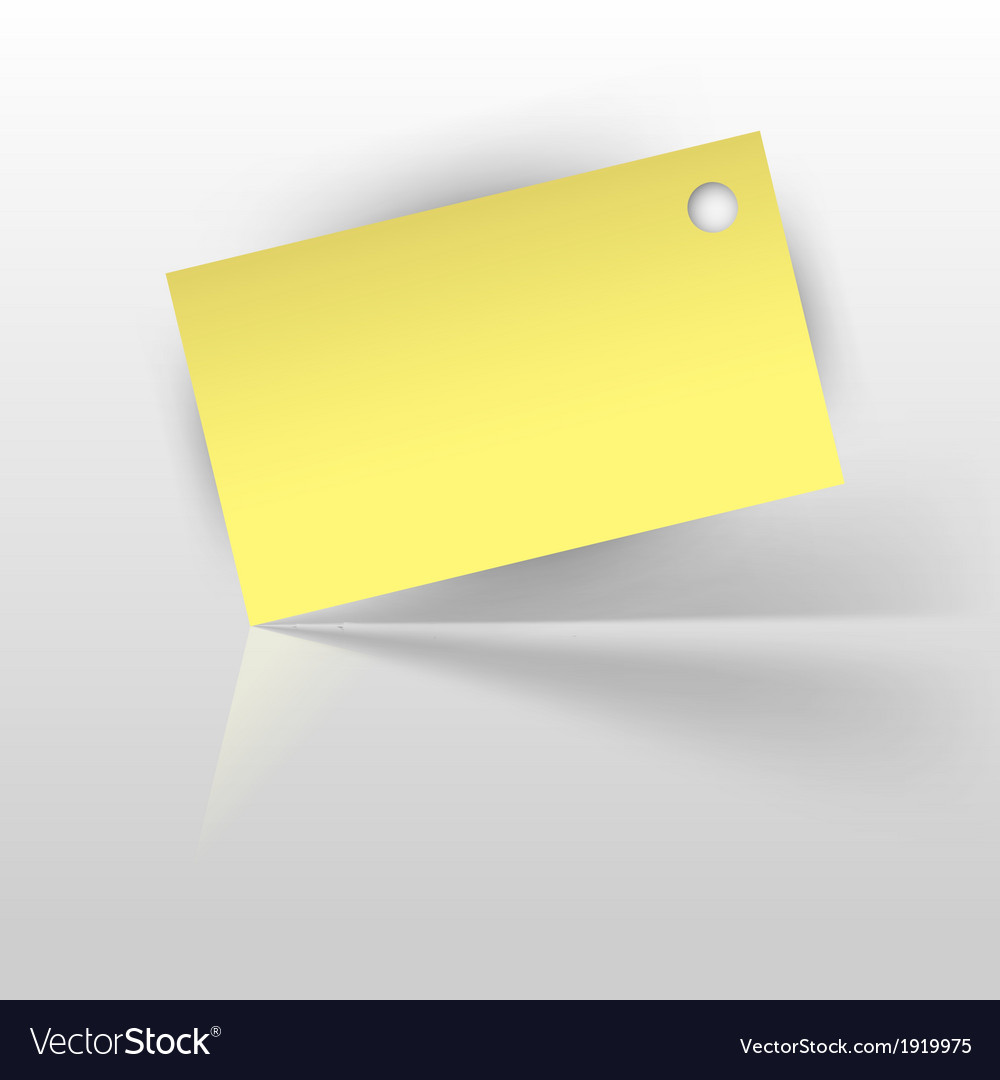 Tag yellow vector | Price: 1 Credit (USD $1)