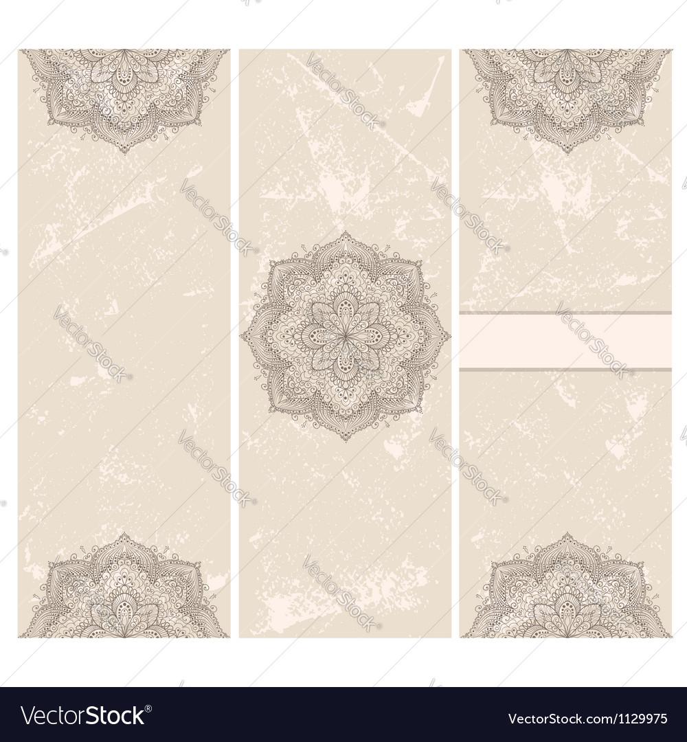 Vintage invitation card template frame design vector | Price: 1 Credit (USD $1)