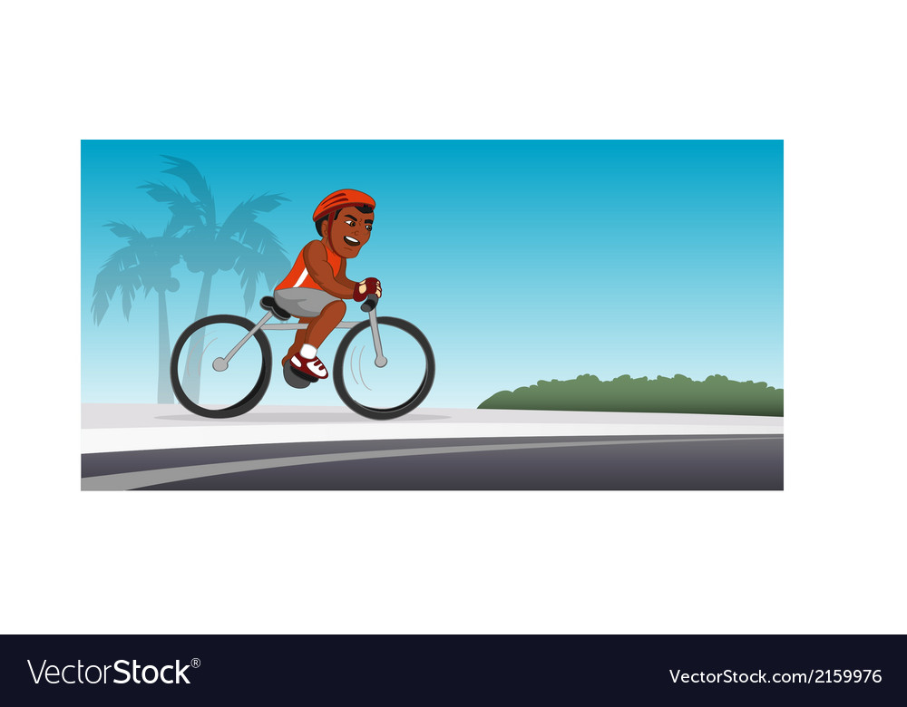 Bicyclist black riding vector | Price: 1 Credit (USD $1)