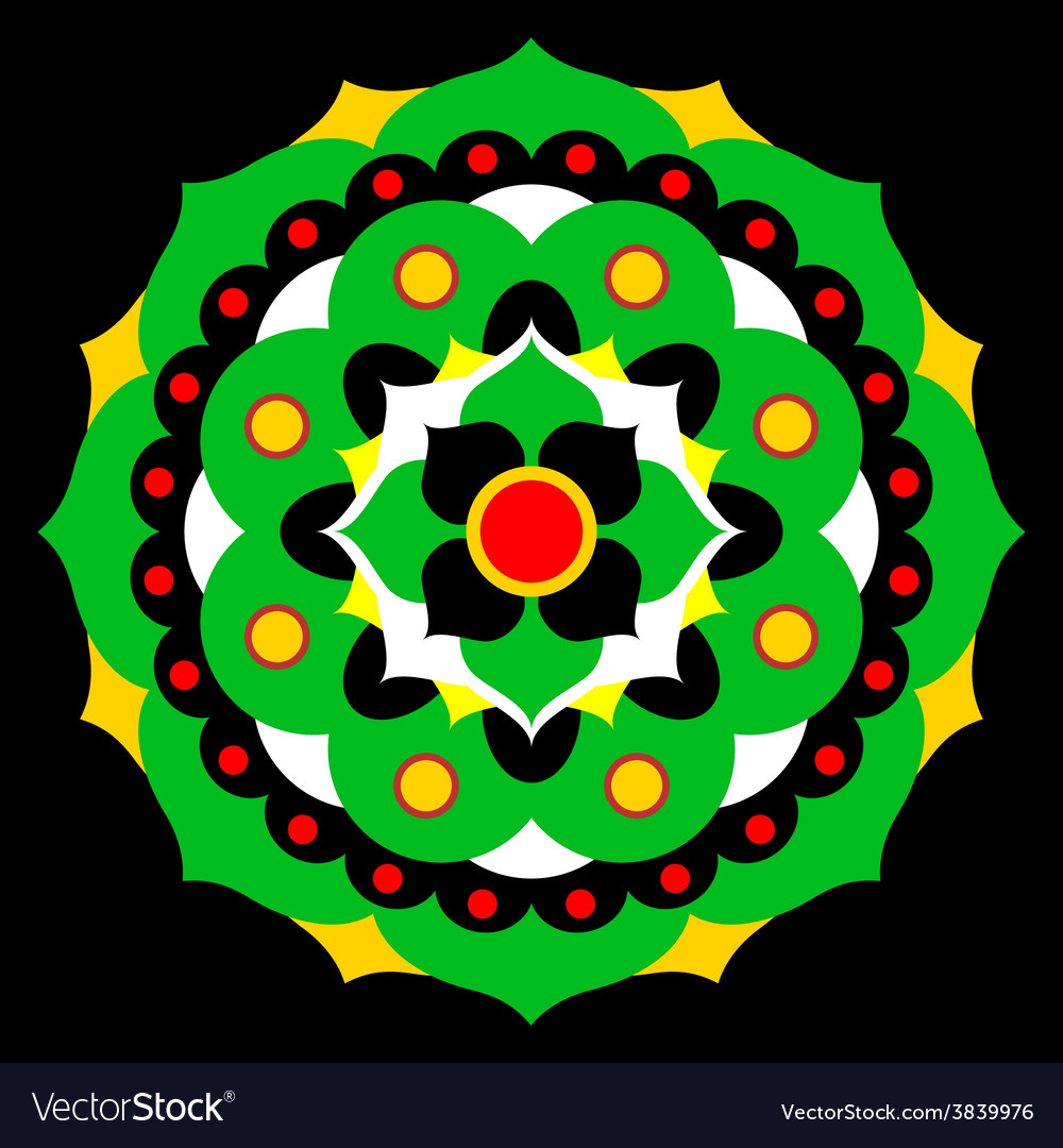 Flower mandala in many colors vector | Price: 1 Credit (USD $1)