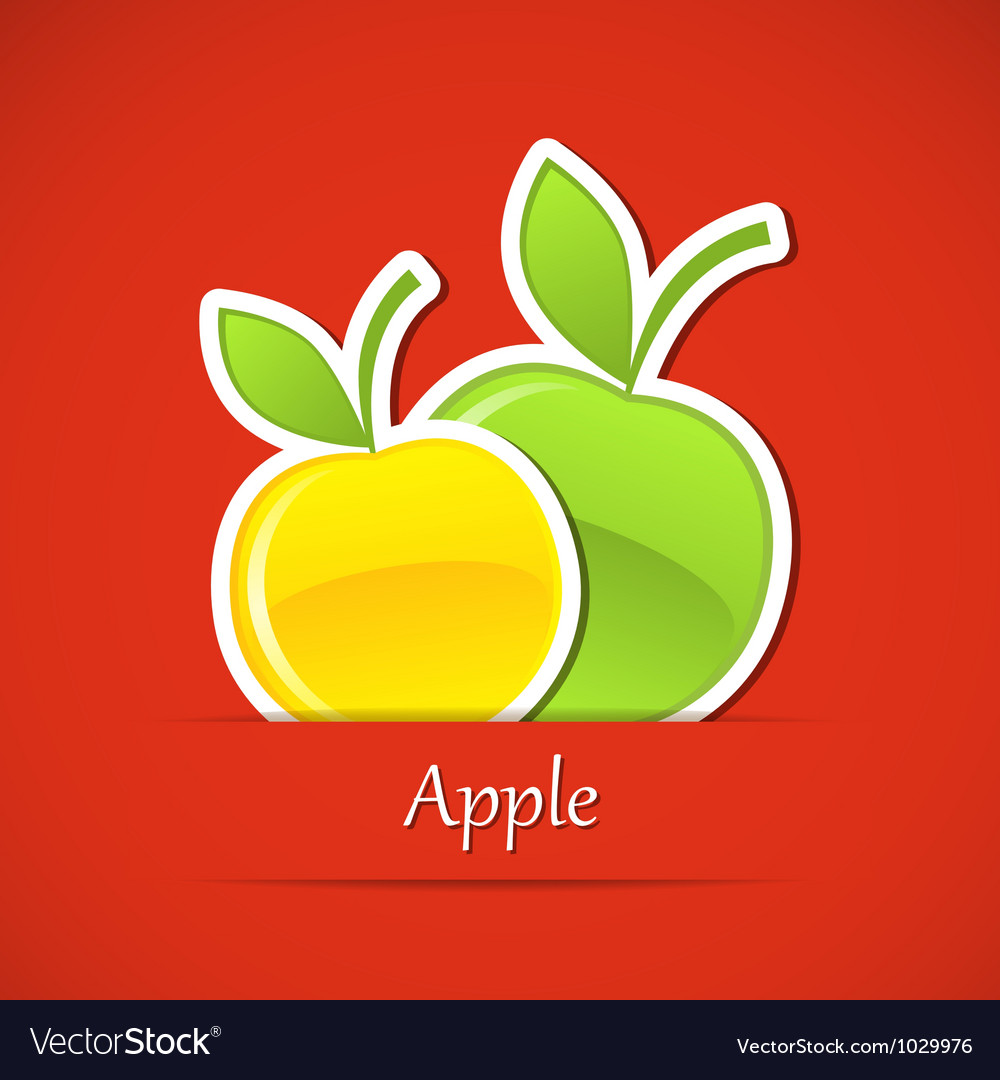 Food label apple vector | Price: 1 Credit (USD $1)