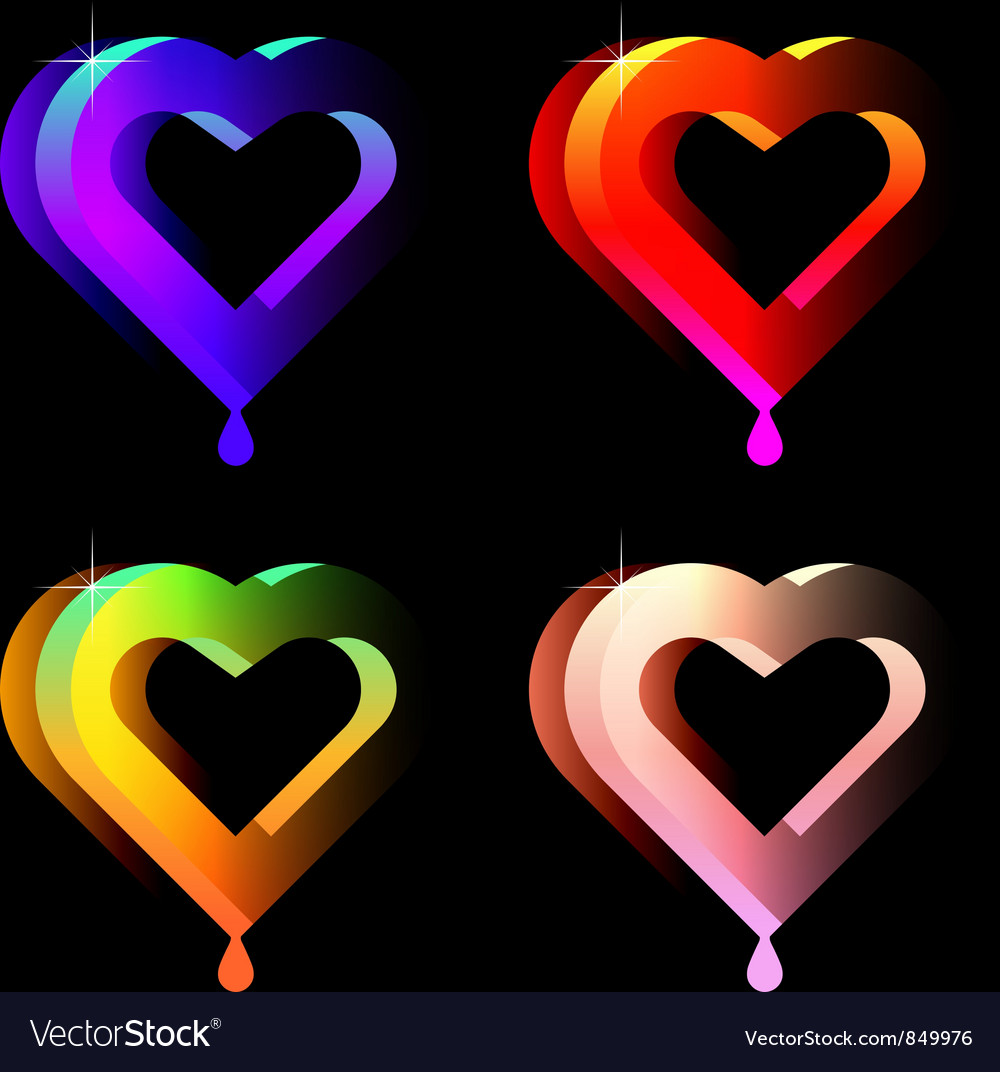 Hearts vector | Price: 1 Credit (USD $1)