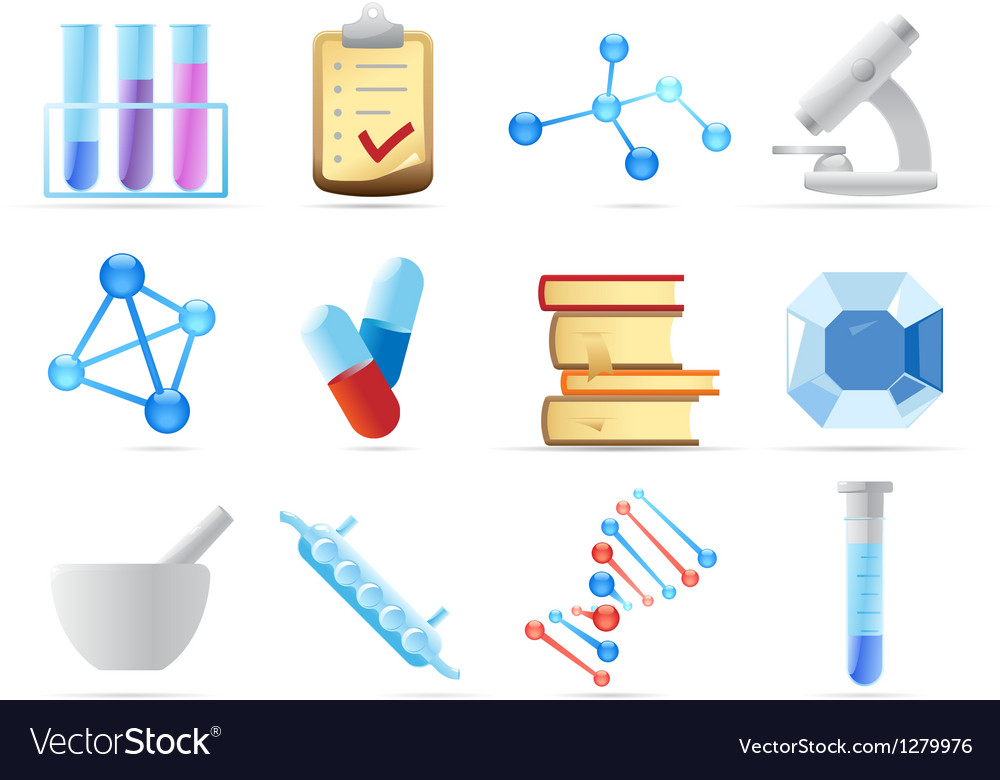Icons for chemistry vector | Price: 1 Credit (USD $1)