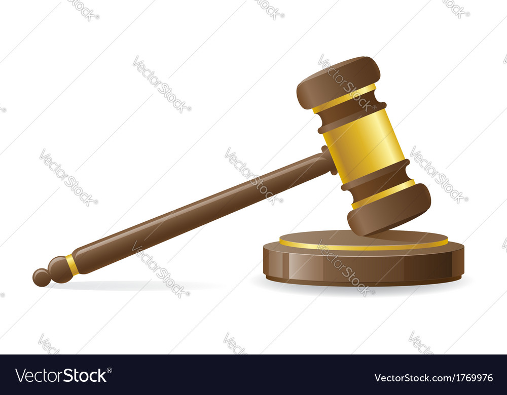 Judicial or auction gavel vector | Price: 1 Credit (USD $1)