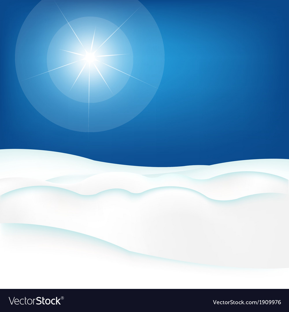 Snow hill and blue sky vector | Price: 1 Credit (USD $1)