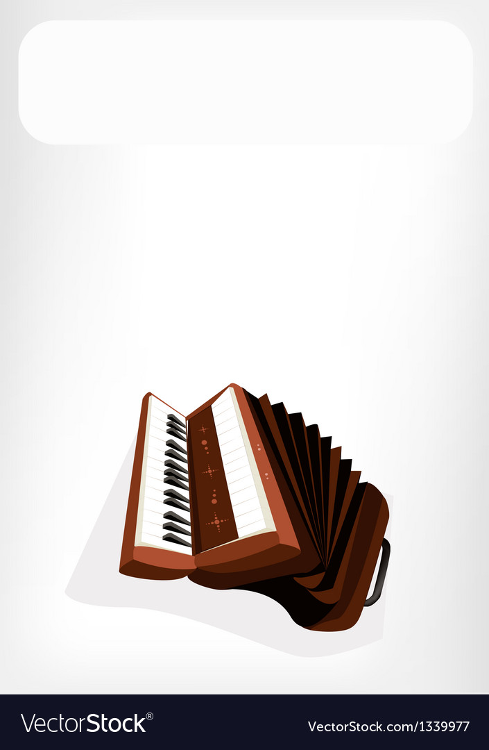 A retro accordion with a white banner vector | Price: 1 Credit (USD $1)