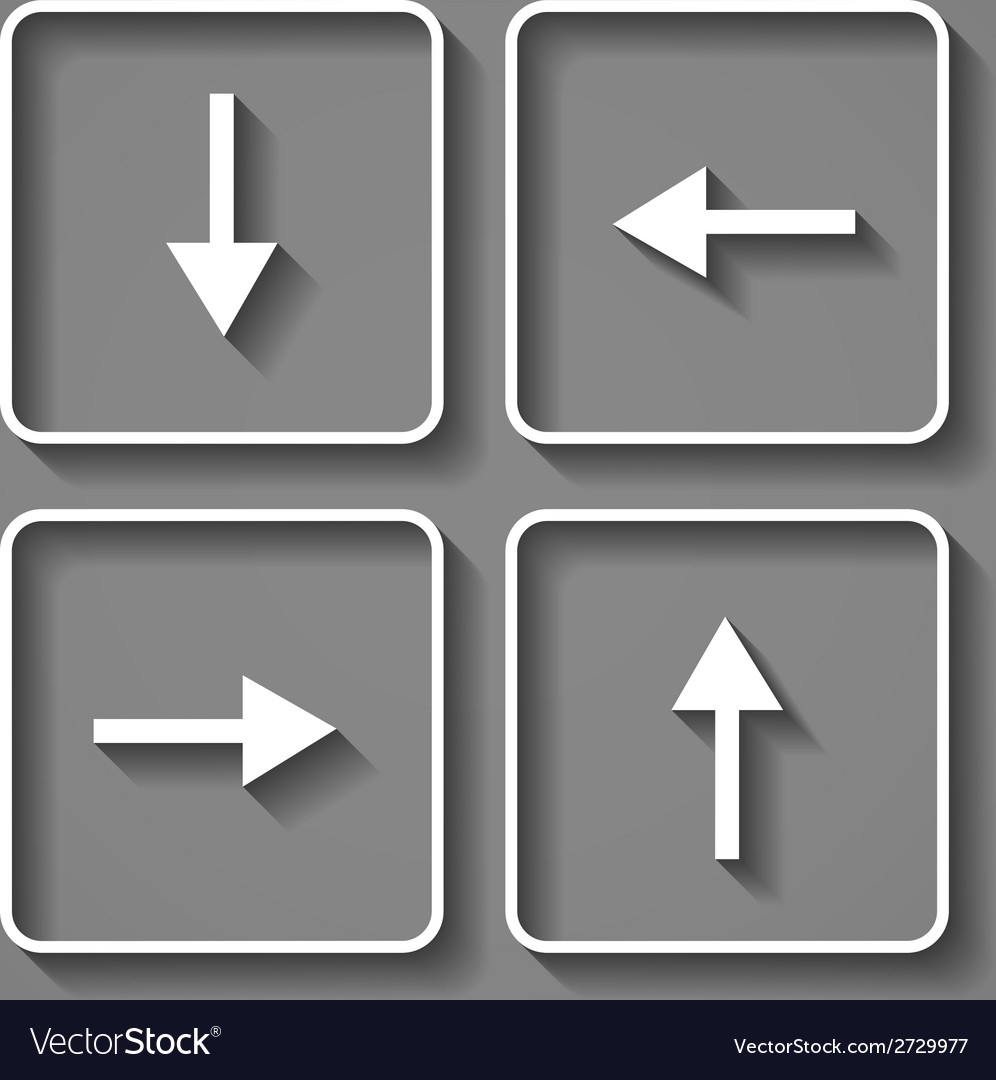Arrows buttons keyboard vector | Price: 1 Credit (USD $1)