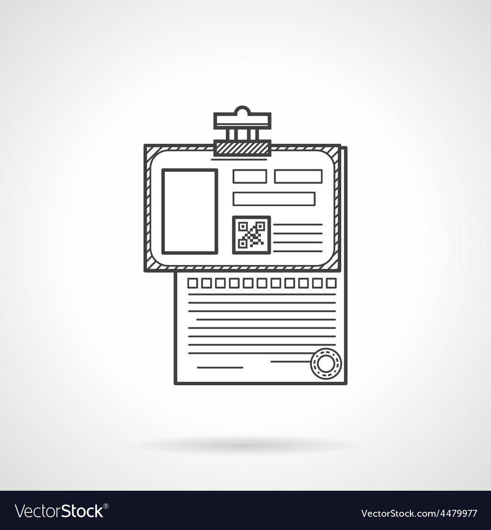 Black line icon for analysis paper vector | Price: 1 Credit (USD $1)