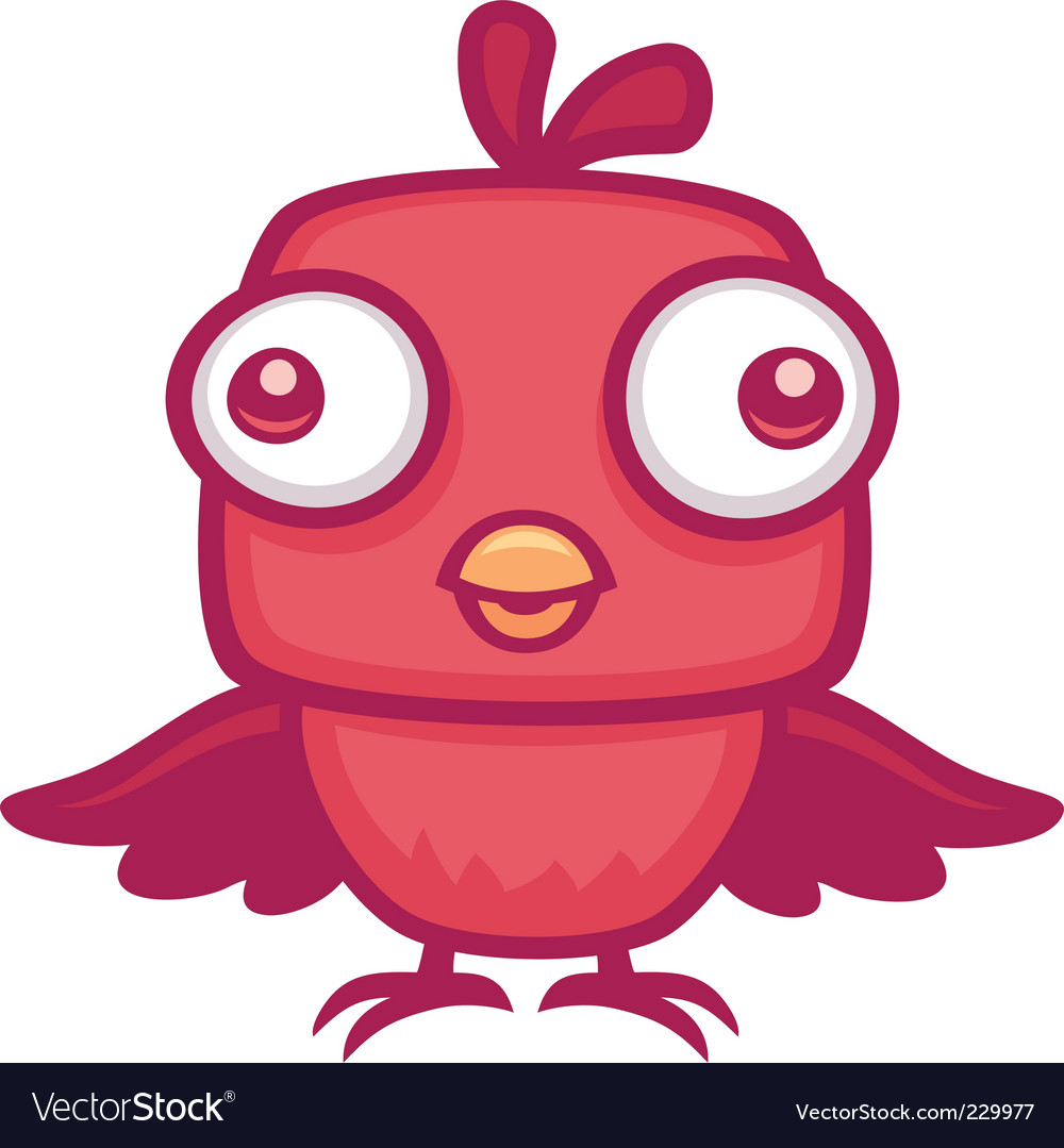 Cute baby bird vector | Price: 1 Credit (USD $1)