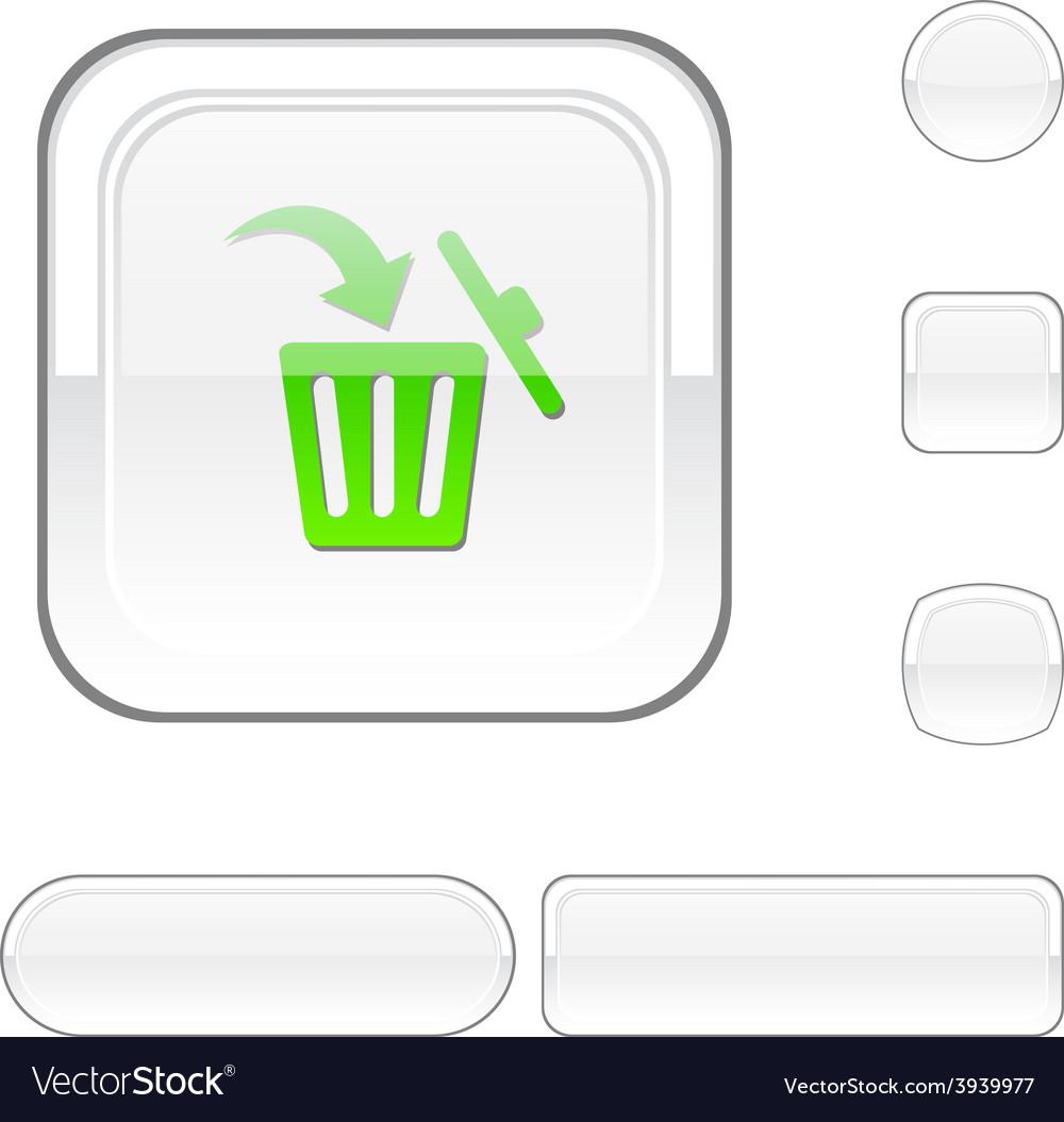 Delete white button vector | Price: 1 Credit (USD $1)