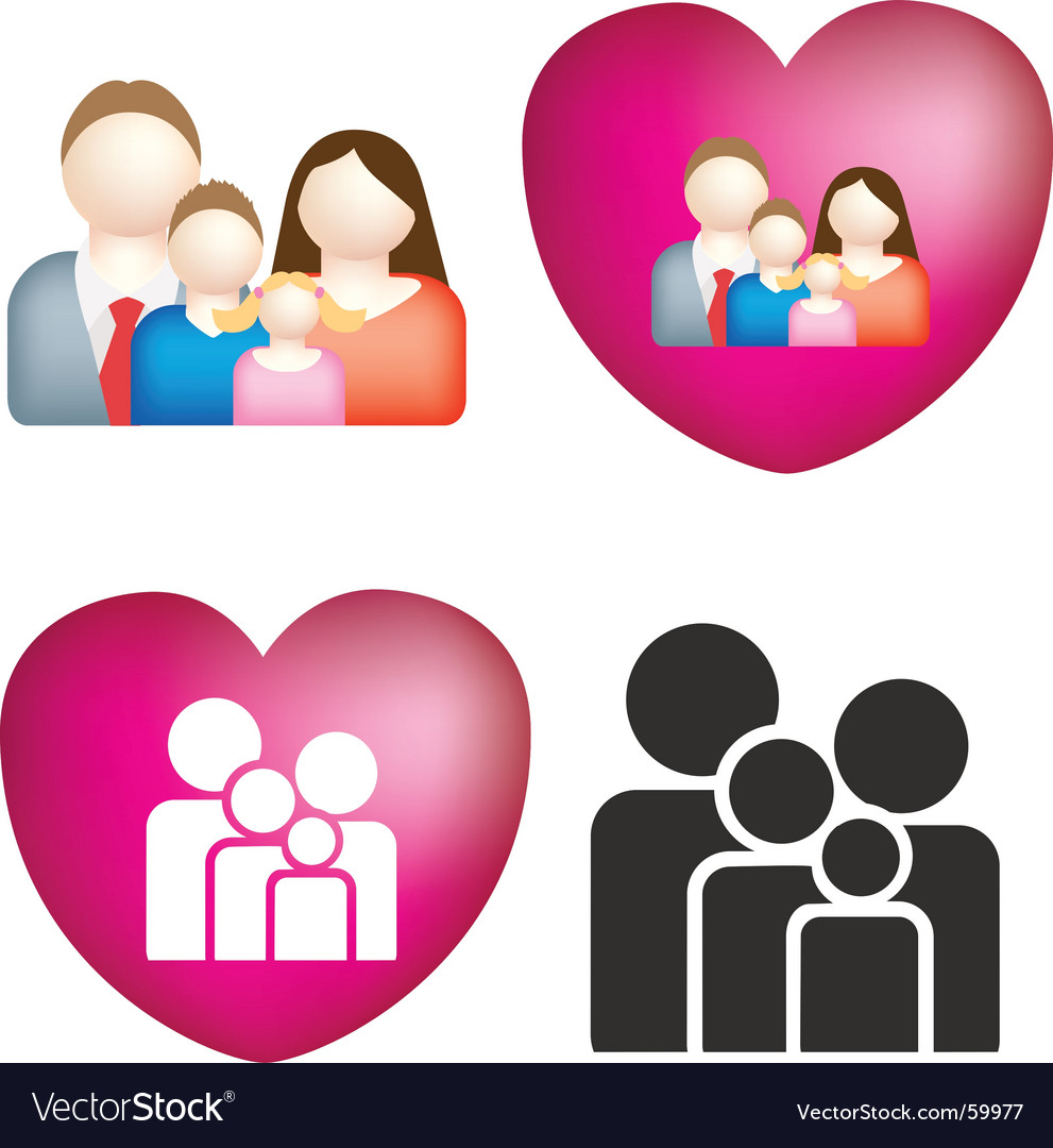 Family love vector | Price: 1 Credit (USD $1)