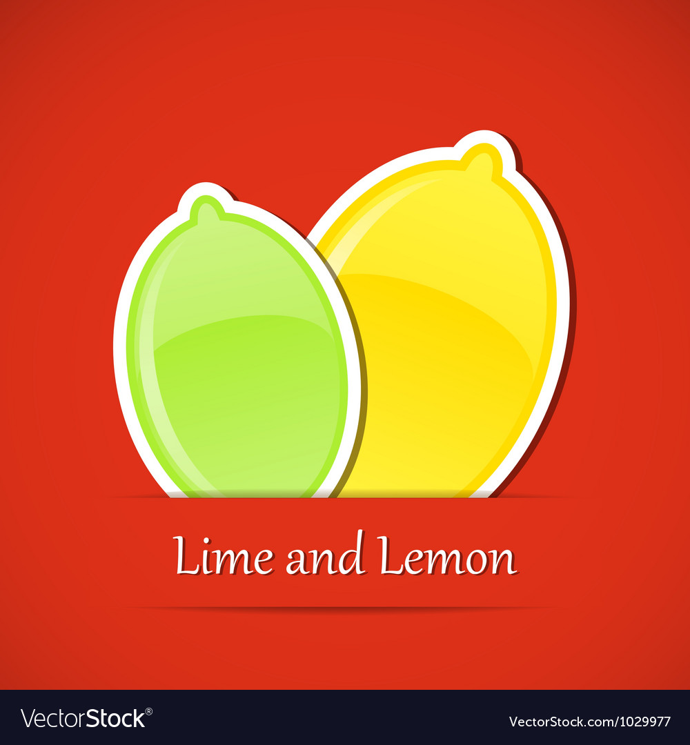 Fruit label lemon vector | Price: 1 Credit (USD $1)