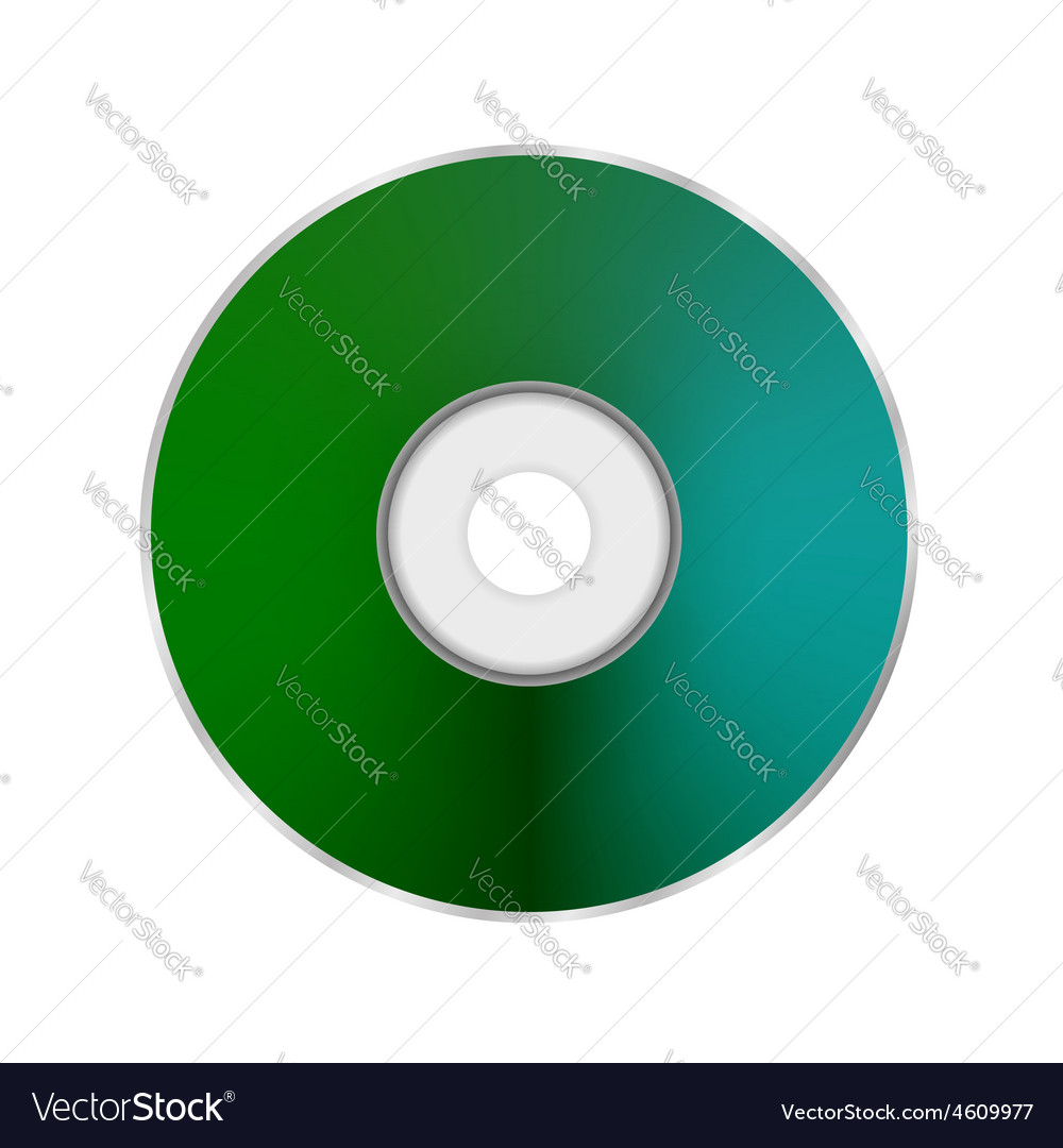 Green compact disc vector | Price: 1 Credit (USD $1)