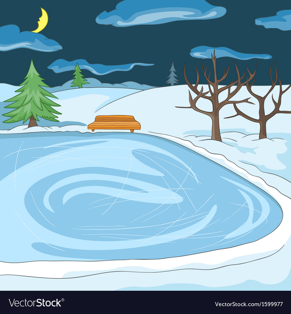 Outdoor skating rink vector | Price: 1 Credit (USD $1)