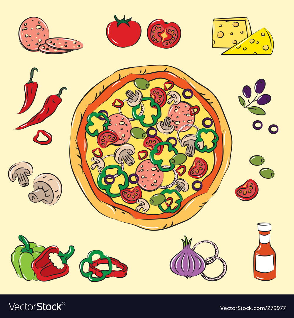 Pizza vector | Price: 3 Credit (USD $3)