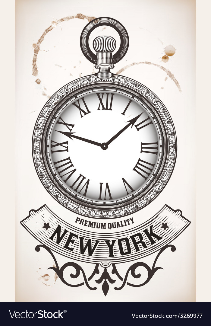 Pocket clock vector