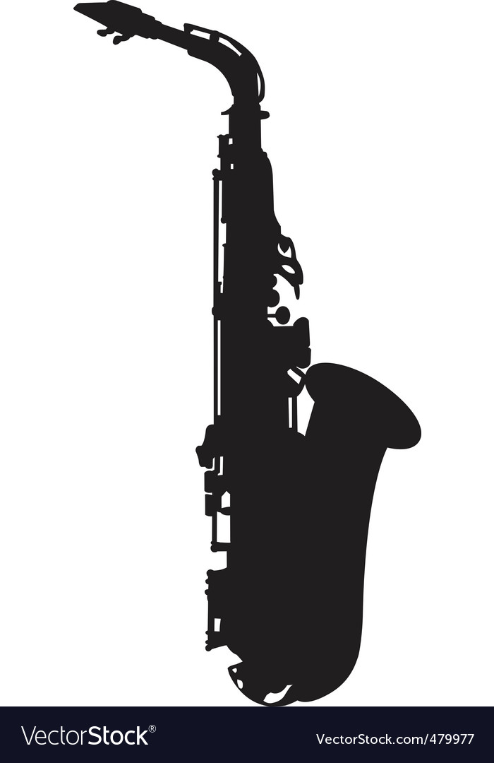 Saxophone silhouette vector | Price: 1 Credit (USD $1)
