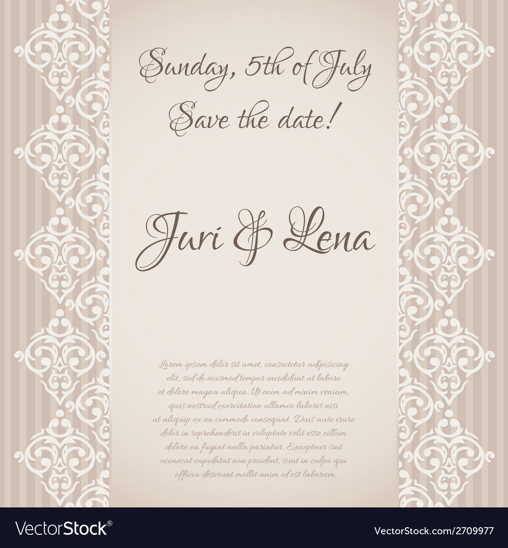 Seamless baroque damask luxury invitation vector | Price: 1 Credit (USD $1)