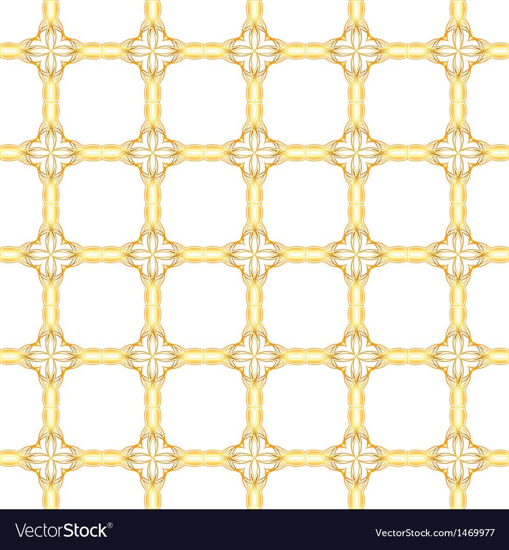 Seamless gold lattice vector | Price: 1 Credit (USD $1)