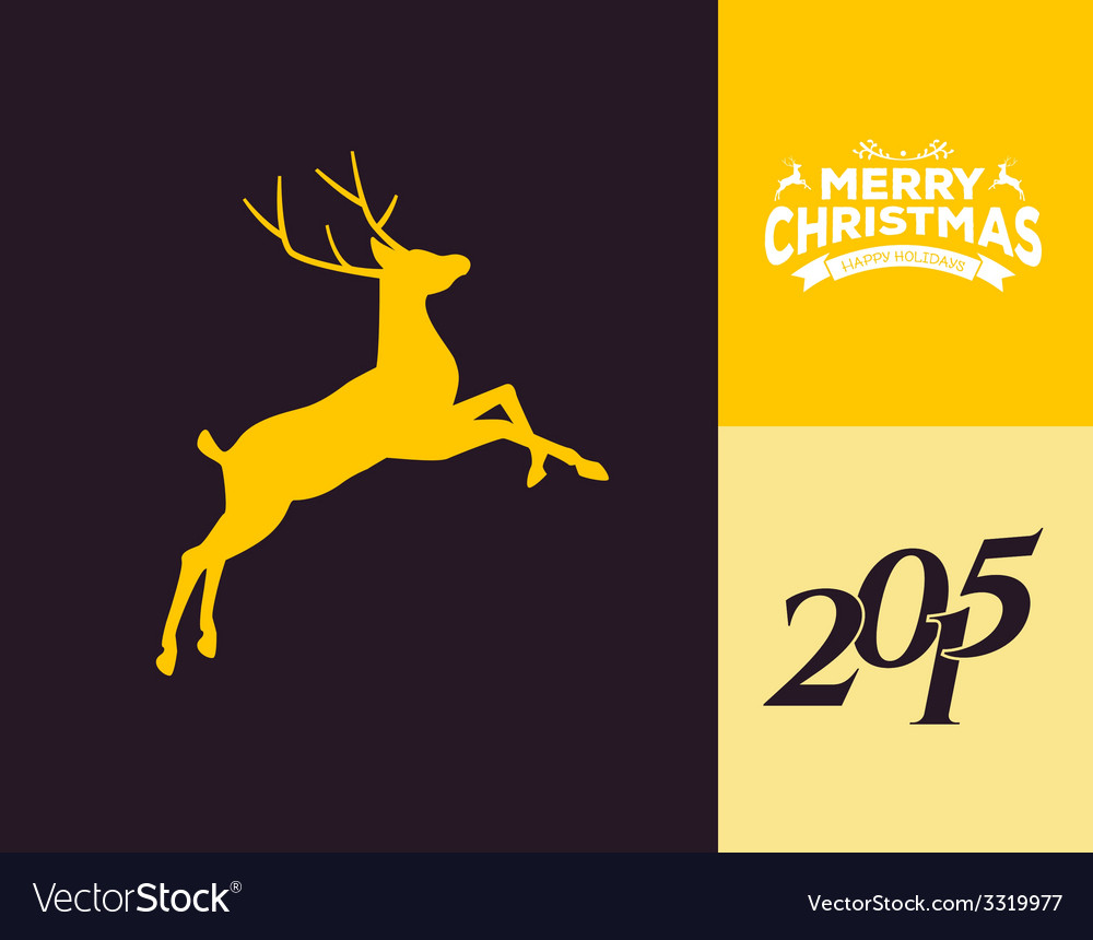 Silhouette of a running deer vector | Price: 1 Credit (USD $1)