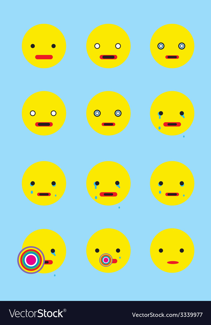 Smile set animation vector | Price: 1 Credit (USD $1)