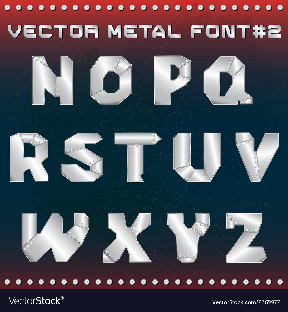 Steampunk metal alphabet for design vector | Price: 1 Credit (USD $1)