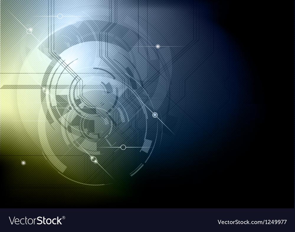 Tech background blue gold dark vector | Price: 1 Credit (USD $1)