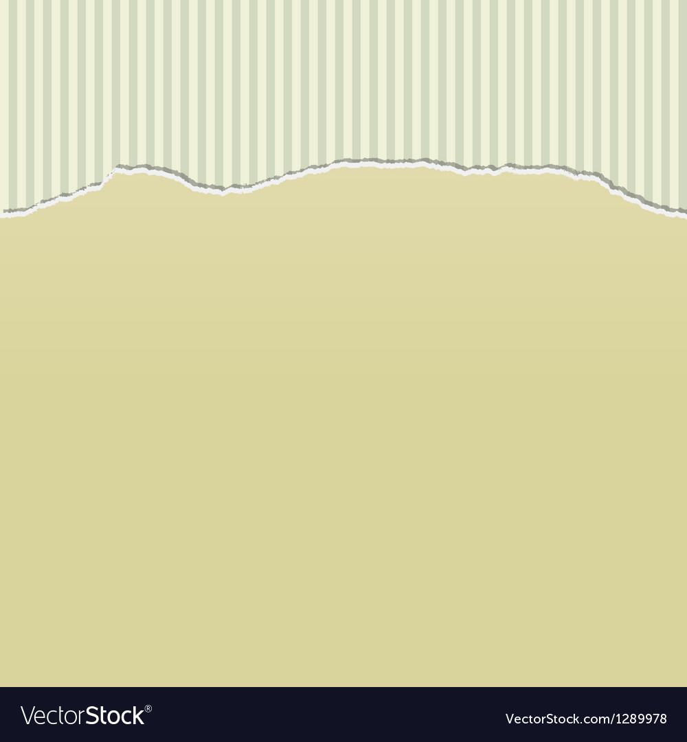 Beige torn paper on stripes vector | Price: 1 Credit (USD $1)