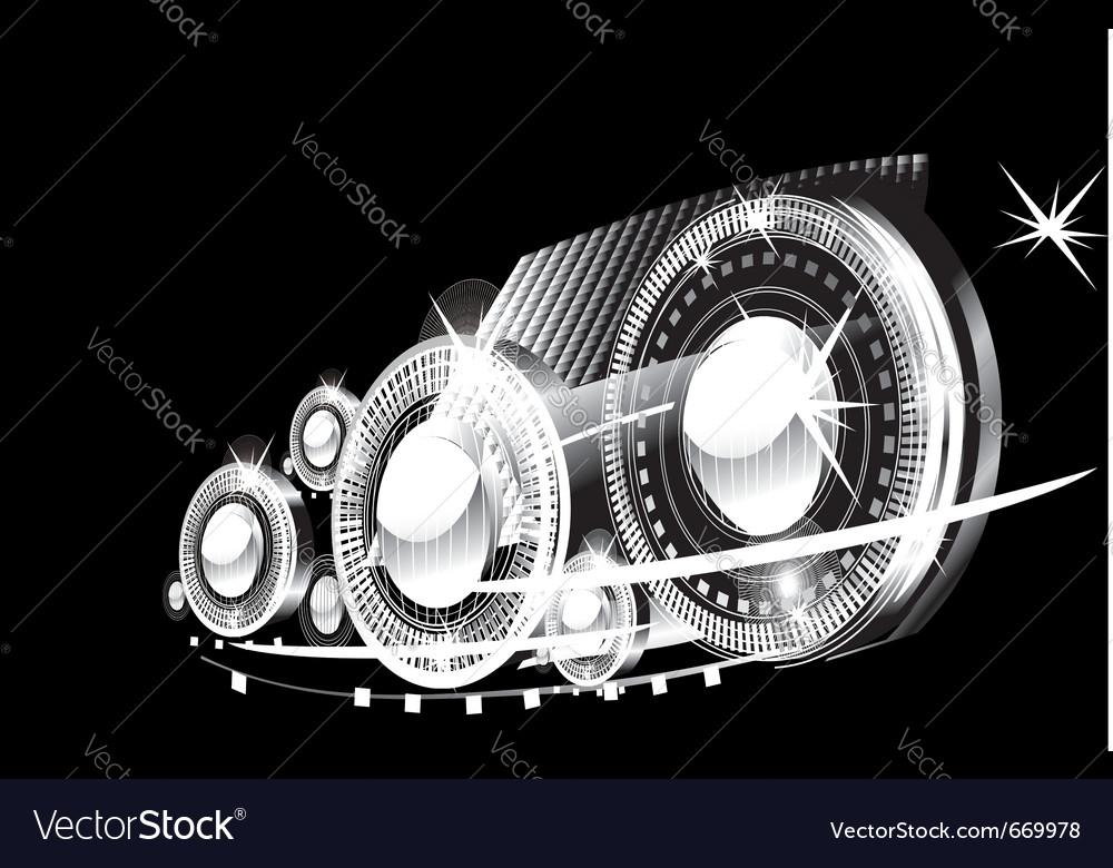 Car lamps vector | Price: 3 Credit (USD $3)