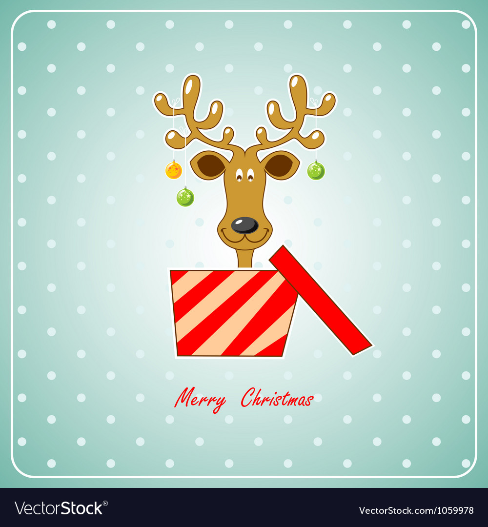 Christmas deer vector | Price: 1 Credit (USD $1)