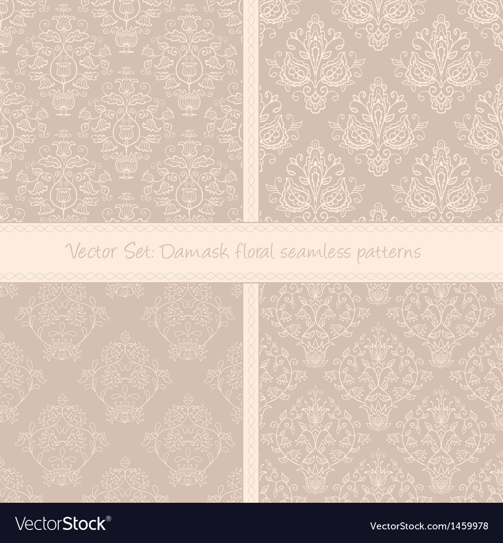 Damask floral textile pattern vector | Price: 1 Credit (USD $1)