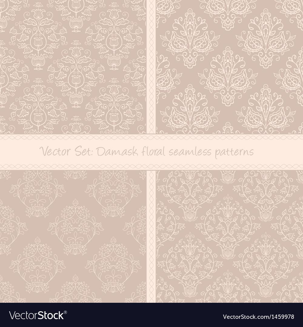Damask floral textile pattern vector | Price: 1 Credit (USD $1)