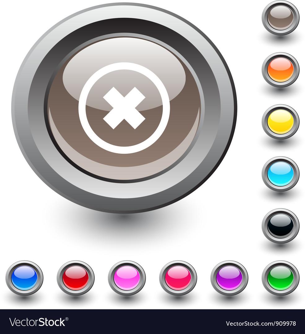 Delete cross round button vector | Price: 1 Credit (USD $1)