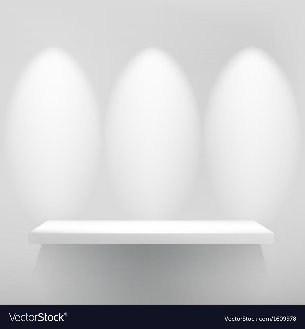 Empty shelfwith spot light  eps10 vector | Price: 1 Credit (USD $1)