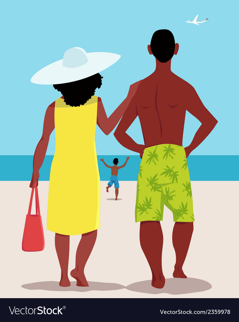Family vacation vector | Price: 1 Credit (USD $1)