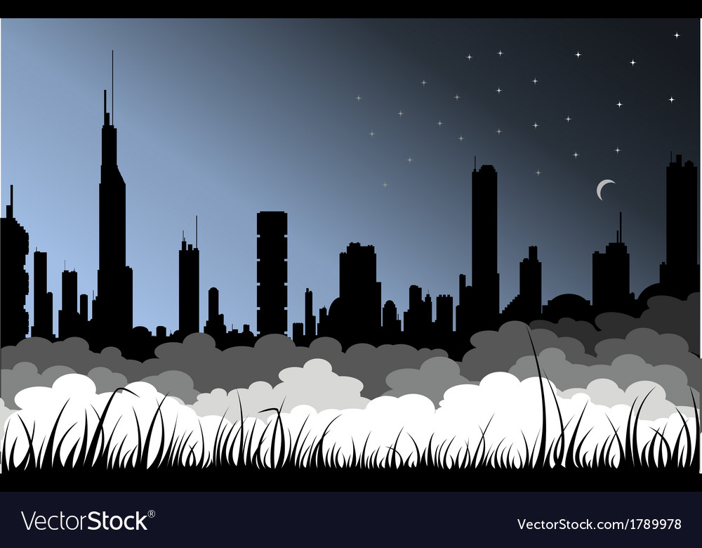 Fog city vector | Price: 1 Credit (USD $1)