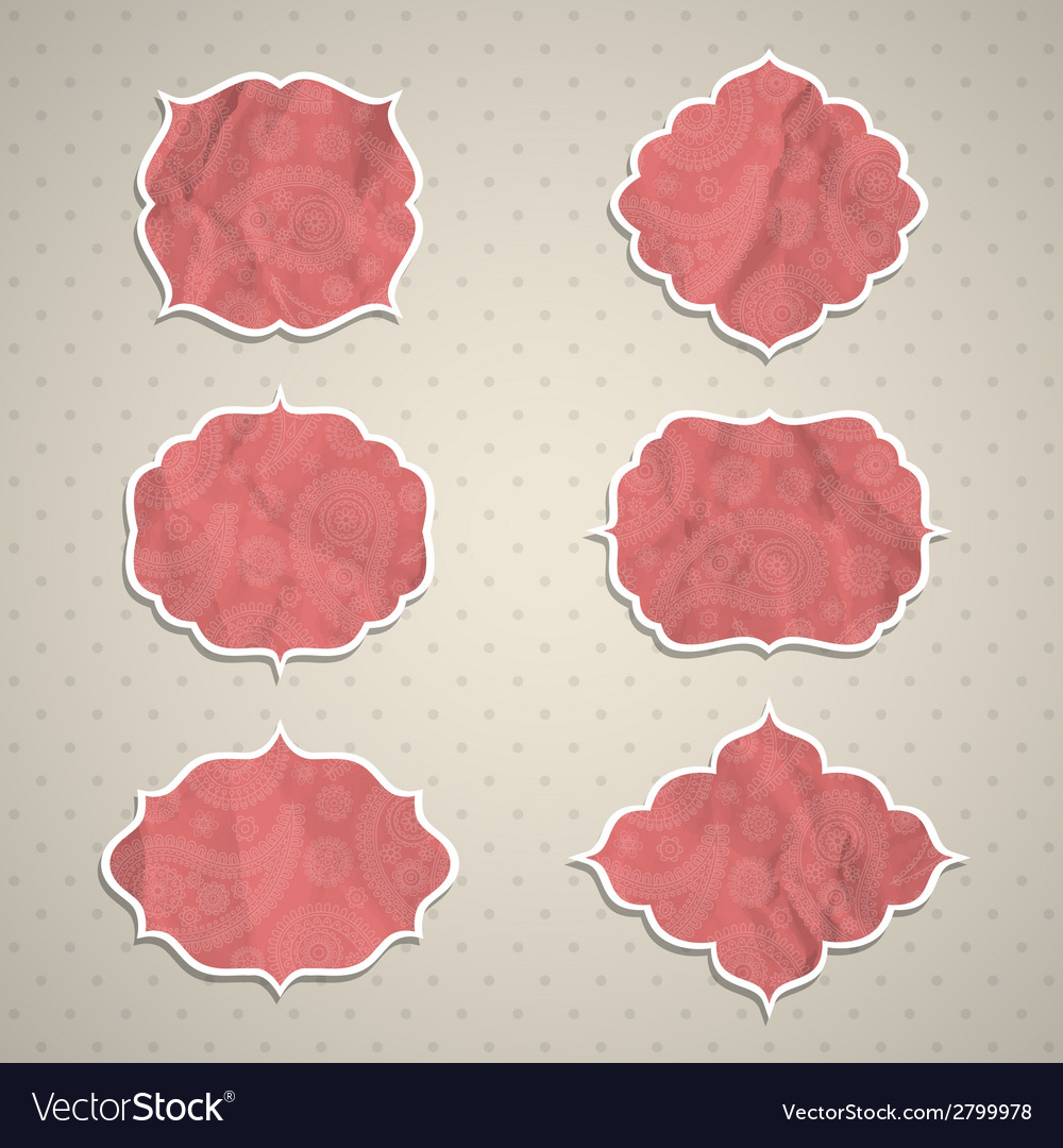 Frames in the indian style vector | Price: 1 Credit (USD $1)