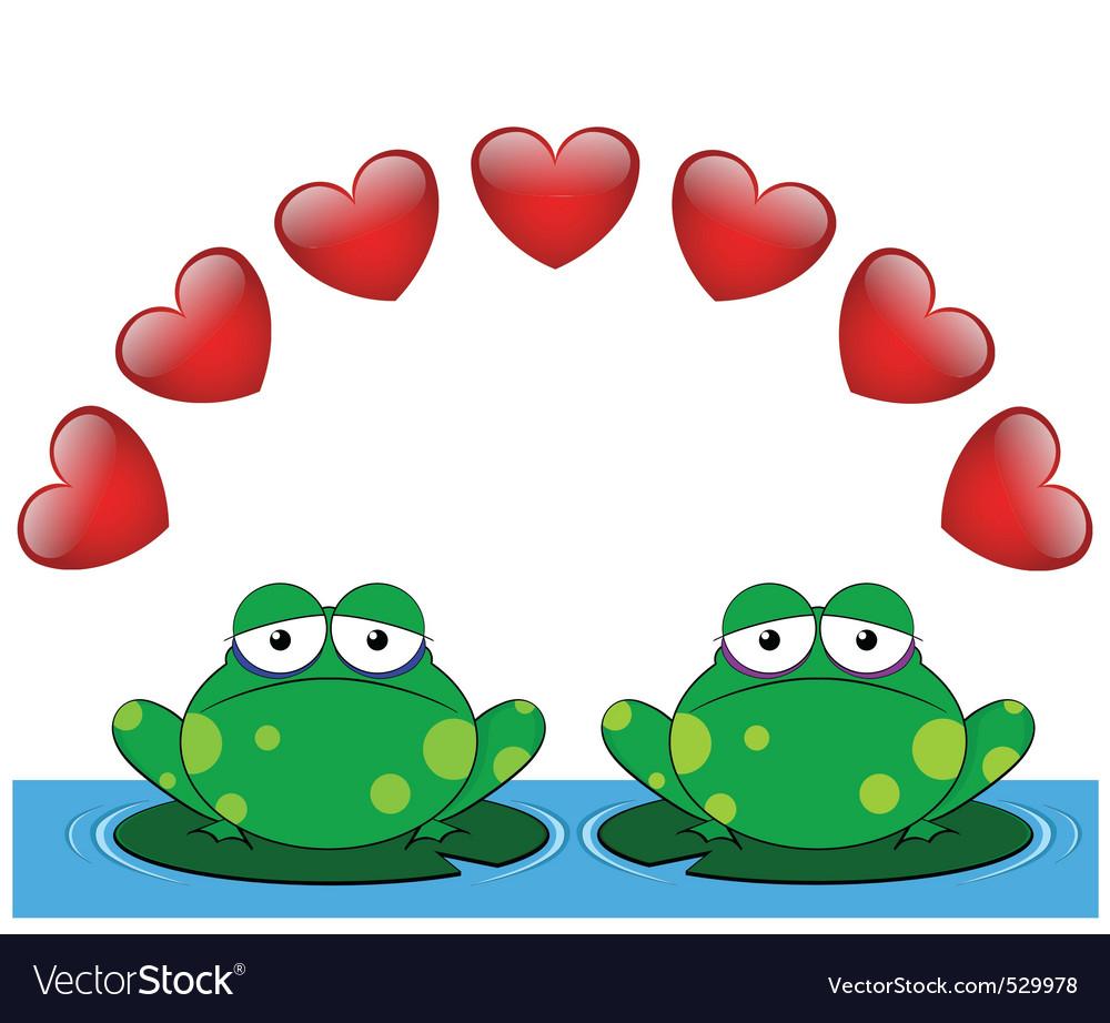Frog valentine lovers vector | Price: 1 Credit (USD $1)