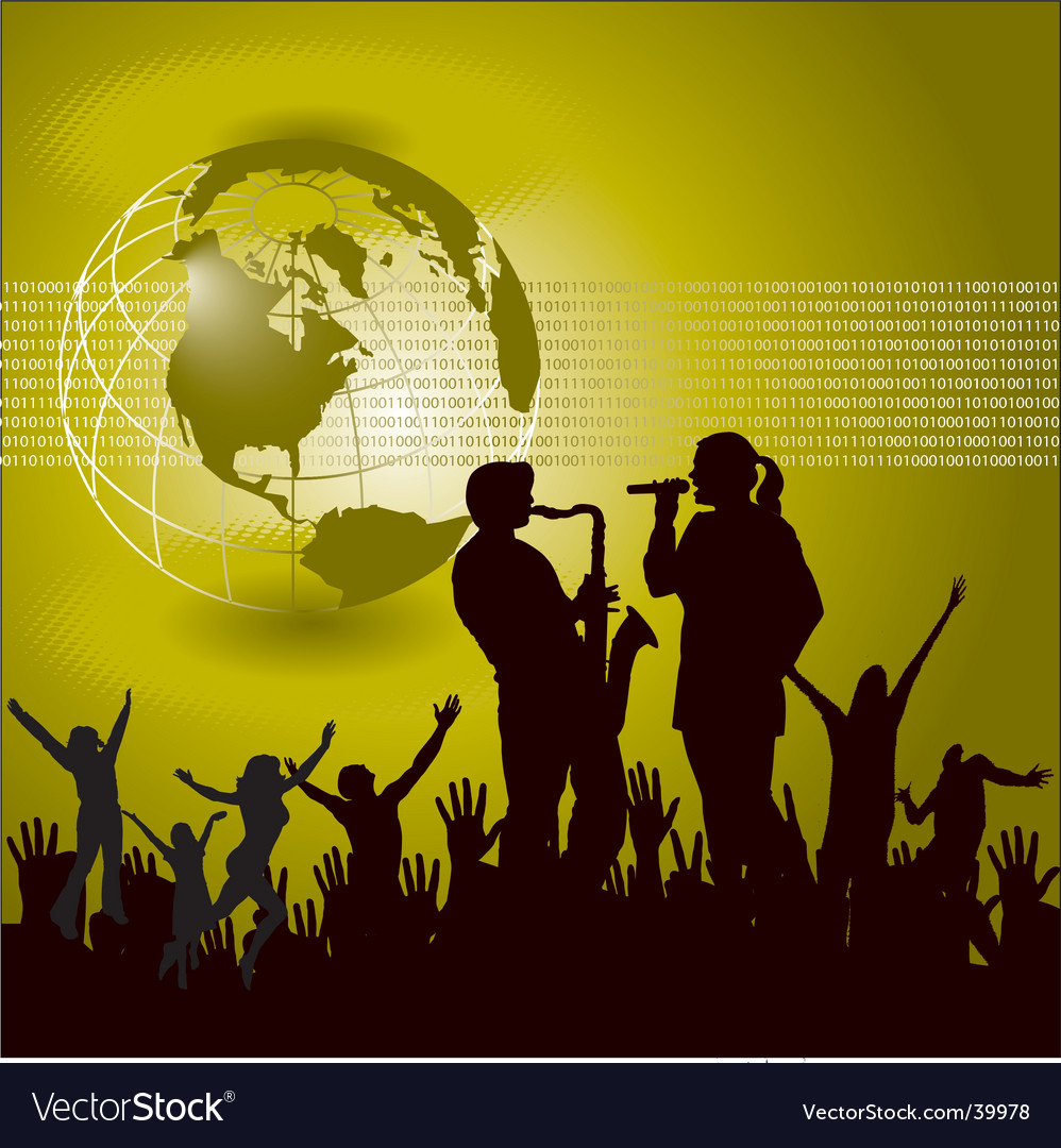 Global music background vector | Price: 1 Credit (USD $1)