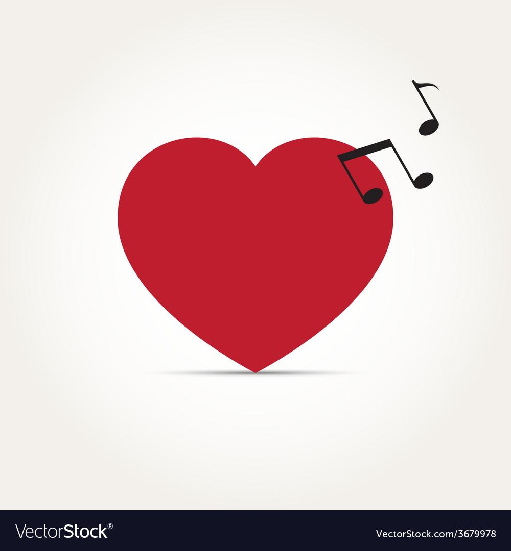 Love heart music rhythm vector | Price: 1 Credit (USD $1)
