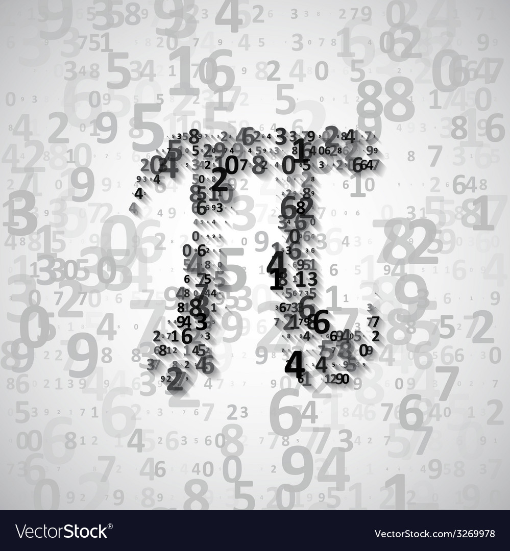The mathematical constant pi vector | Price: 1 Credit (USD $1)