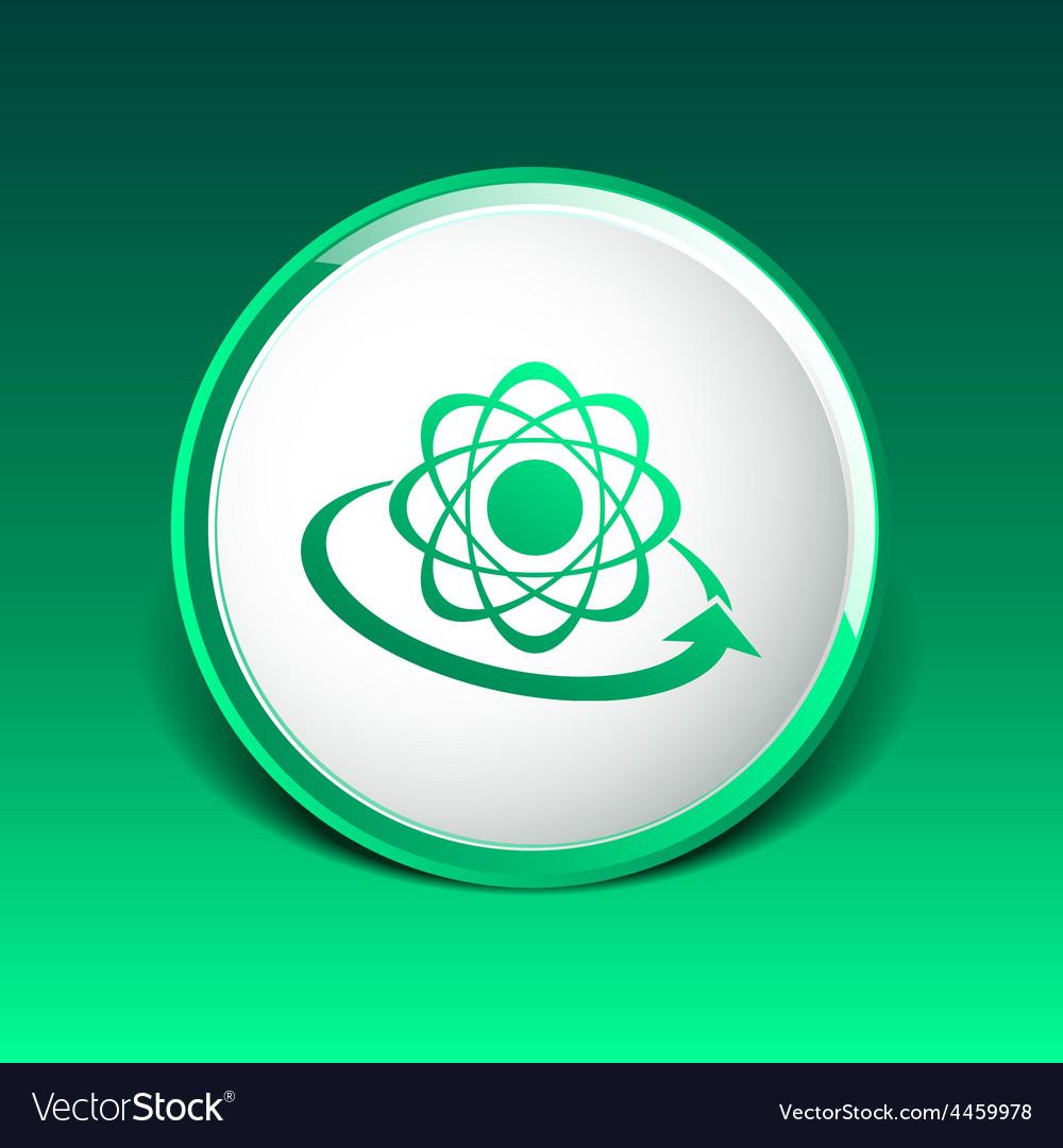 Molecular compound icon chemistry molecular vector | Price: 1 Credit (USD $1)