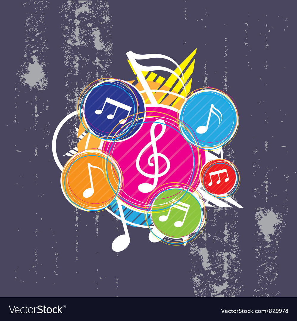 Music on grunge background vector | Price: 1 Credit (USD $1)