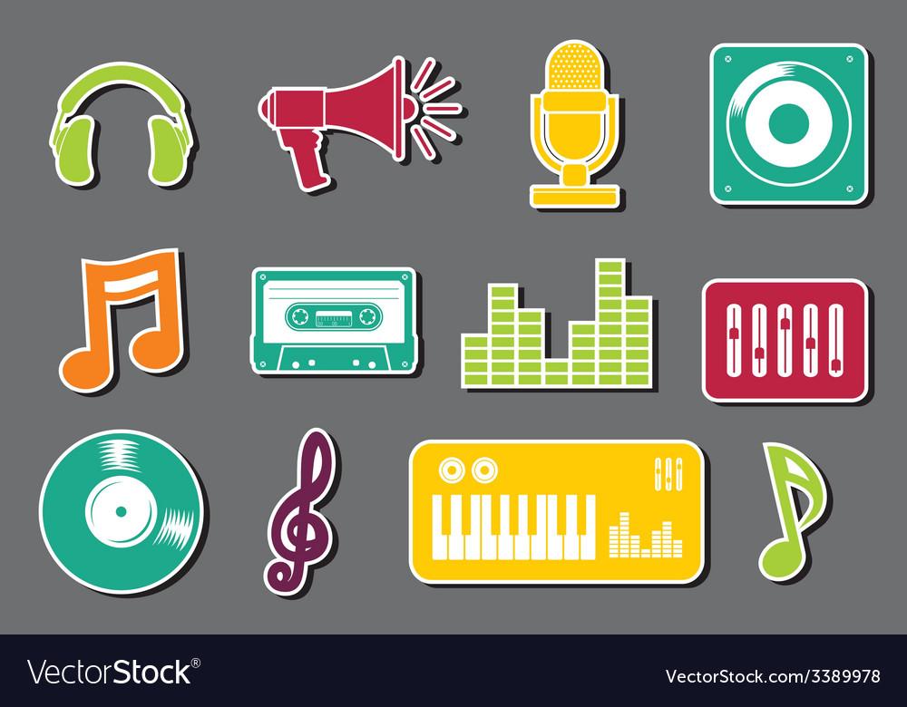 Muzicke ikonice4 vector | Price: 1 Credit (USD $1)