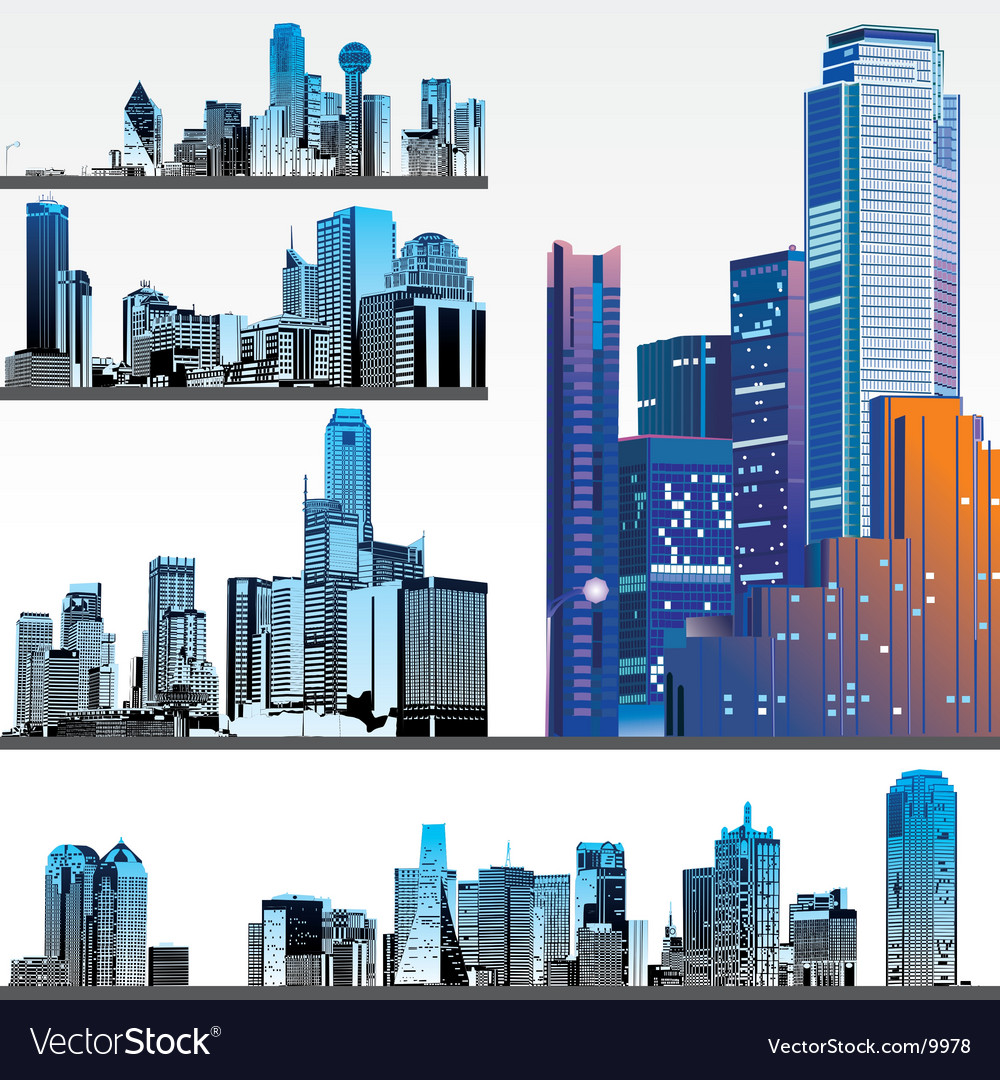 Skyscrapers vector | Price: 3 Credit (USD $3)