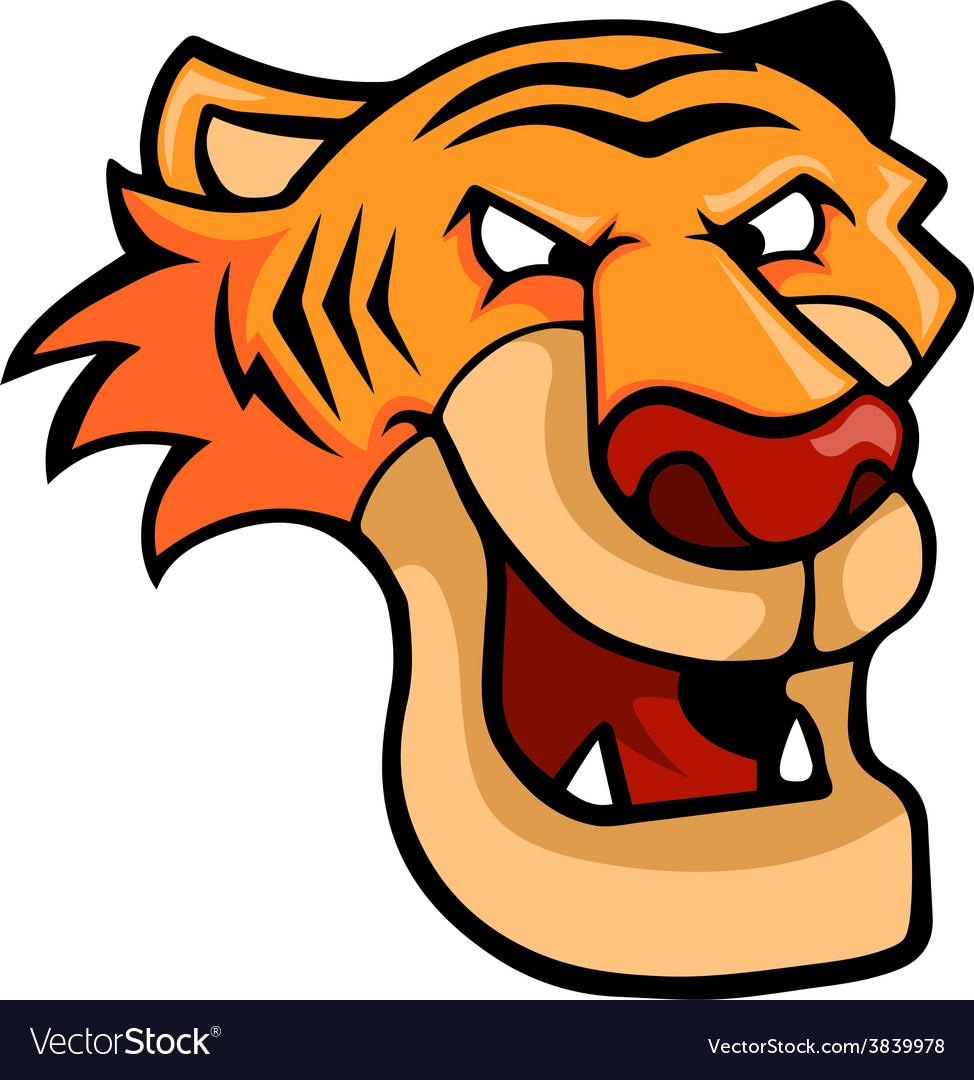 Smirking tiger vector | Price: 3 Credit (USD $3)